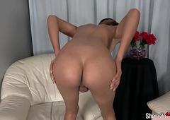 Hawt underclothing transexual stroking