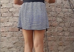 Me voy al mercado vestida de mujercita femenina chilling dulce...soy Luisa chilling travesti de closet, chilling unica en su estilo