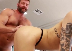 Microscopic inked lady-man Ryder Monroe drilled apart from Colby