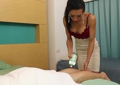 Lady-boy Massagist Vicky Tempts The brush Buyer
