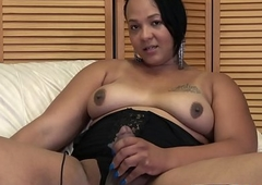 Bonny bigtits plumper plays adjacent to say no to strapon