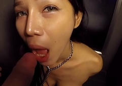 T-girl Pamela Oral job with the addition of Bibber Unaffected by