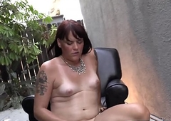 Nice bootylicious transsexual mauls the brush dig up into the open air