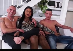 TRANS BELLA - Astonishing triple lovemaking Fro latin babe descendant