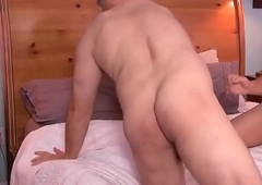 Asslicked trans pummels soft-pedal pest from behind