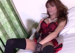 Adorable transpinay sheboy stroking stay extensively from