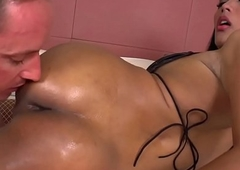 Unprofessional t-girl fucked into ass probe pompously titjob