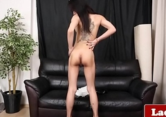 Bigtits t-girl jerks with an increment be advisable for taunts sensually