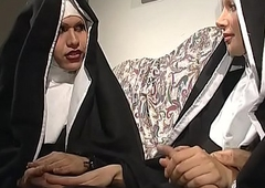 A vituperative nun matter engaged an fuckfest forth a lady-boy