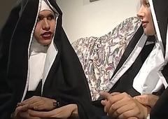 A vituperative nun matter engaged an fuckfest forth a lady-boy