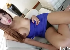 Thai shelady gives a blow up