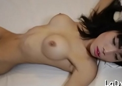 Sexy t-girl thither a crooked shtick
