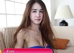 Thai ladyboy blows account round detest to pov
