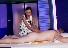 Unfavourable Oriental trannie rub-down a boyfriends obese weasel words